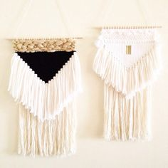 weaving wall hanging / black triangle weaving 2 by HAZELANDHUNTER
