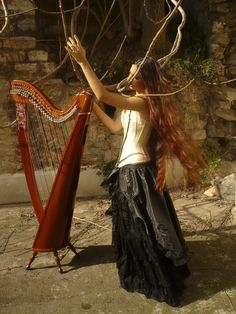 Celtic Harp Stock 2 by Harpist-Stock on DeviantArt Celtic Music, Instruments, Let Your Hair Down, Fantasy Hair, Dream Hair, My Hair, Deviantart, Long Hair Styles, Photography