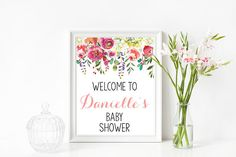 Hey, I found this really awesome Etsy listing at https://www.etsy.com/listing/534455038/floral-welcome-baby-shower-sign-welcome