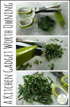 Most kitchen gadgets are just clutter, but this one? PERFECTION for fit foodies. They're herb scissors!