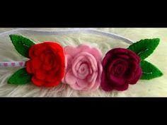 ROSA de FELTRO- PASSO A PASSO fabric flowers - YouTube