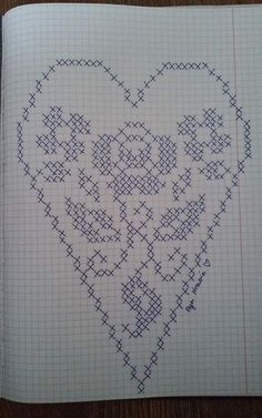 Designing Your Own Cross Stitch Embroidery Patterns - Embr Embroidery Flowers Pattern, Crochet Doily Patterns, Thread Crochet, Crochet Doilies, Cross Stitch Embroidery, Cross Stitch Angels, Cross Stitch Heart, Filet Crochet Charts, Knitting Charts