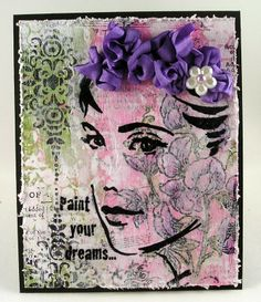Suzz's Stamping Spot, #Stampendous, May Arts, Hop, Glance, Mixed Media,