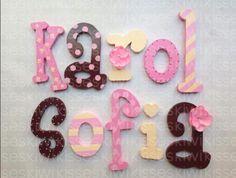 nursery decor letters / Letras de madera para decorar ! on.fb.me/1hoS0Sr