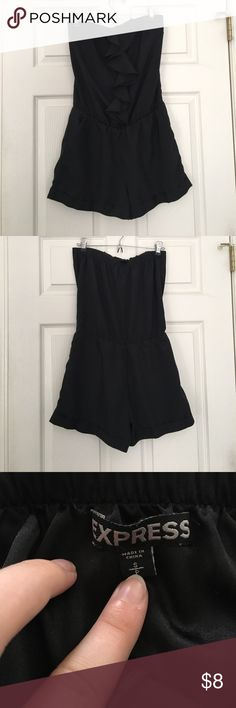 Express Ruffled Romper Pre-owned dark black Express ruffled romper. Express Other