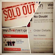 @desireepeach Ticket Stubs, Concert Tickets