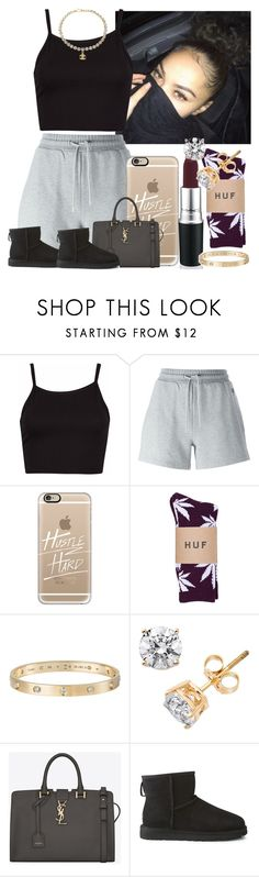 """""""Late night errands ."""" by itsaaliyah ❤ liked on Polyvore featuring McQ by Alexander McQueen, Casetify, HUF, Cartier, Yves Saint Laurent, UGG Australia and Chanel"""
