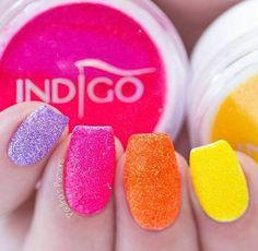 Mermaid Neon Effect by Paulina's Passions #nails #nail #nailsart #indigonails #indigo #hotnails #summernails #springnails #effectnails #mermaideffect #neon