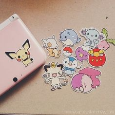 Stickers Pokemon par Meowcaron sur Etsy