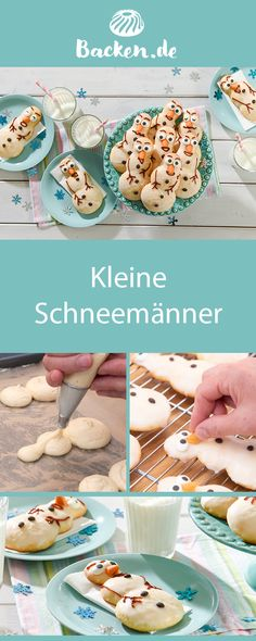 Kleine Schneemänner Why not defy the cold season with these cute snowmen? They put a smile on your face even during the frost and the cold. Christmas Candy, Christmas Desserts, Christmas Treats, Christmas Baking, Like Chocolate, Sliced Almonds, How To Eat Paleo, Food Humor, Marzipan
