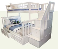 Stairs + storage = snazzy bunk bed