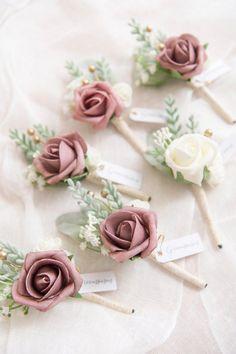7 X Blanc Pur Soie Roses 7 cm lié Bunch//petit bouquet