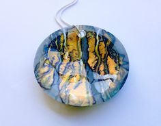 Fused glass pendant by Claire Hall