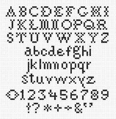 cross stitch samplers antique patterns free | 010-10-00 - Alphabet 'Antique Half Inch' Pattern