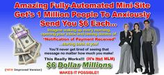 """$6 Dollar Millions - Makes It Possible! Own a website that's a $6 Magnet... for just $6!  The best one-time $6 investment that you'll ever make! It pays me $6 over and over again every day. Get the """"exclusive"""" website and product with reprint rights. For all the details, visit website at: http://your6dollarsiteprofit.onlinetosuccess.biz"""