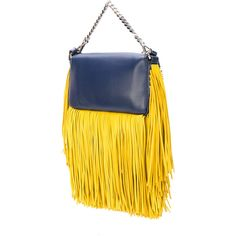 Fendi Micro Baguette crossbody bag ($1,580) ❤ liked on Polyvore featuring bags, handbags, shoulder bags, fendi shoulder bag, yellow shoulder bag, fringe shoulder bag, yellow crossbody purse and yellow crossbody