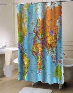 World Maps shower curtain #showercurtain  #showercurtains  #curtain  #curtains  #bath  #bathroom  #funnycurtain  #cutecurtain