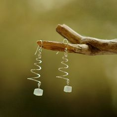 Sparkle Wire & Opal Christmas Tree Earrings