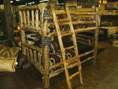 Bradley S Furniture Etc Rustic Log And Barnwood Bunk
