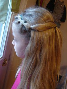 hair dos….rubber bands..