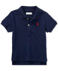 02b808c23 Ralph Lauren Baby Boys Cotton Polo - Blue 3 months Baby & Toddler Clothing,  Toddler