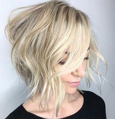 Messy Blonde Bob Hairstyle