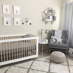 babyletto on Instagram: ▫️neutral greys for the win| #babyletto Lolly crib | : designed by mama Jina Lee