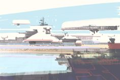 airport by artbytheo on DeviantArt Ship Drawing, Alien Planet, Science Fiction Art, Environment Design, Cool Artwork, Traditional Art, Graphic Art, Concept Art, Scenery