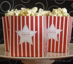 Sweet Little Parties: {create} mini popcorn boxes tutorial with free printable template