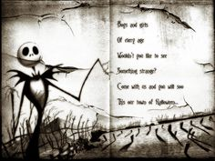 PLEASE DO NOT USE THIS IMAGE WITHOUT MY PERMISSION. thankyou A Nightmare Before Christmas project i did for my art class. This is from the begining of the semester, and now its the end and i just f...
