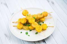 Spiedini di polenta e formaggio