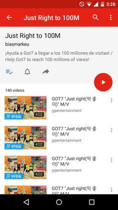 ¡Help Got7 to reach the 100M of views!  ¡Ayuda a Got7 a llegar a los 100M de vistas!