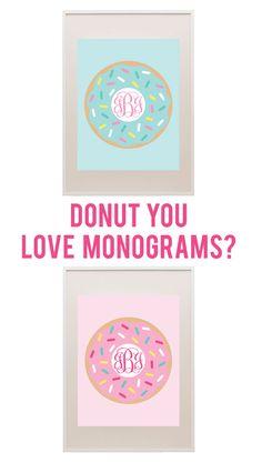 Donut you love monograms? Now you can create your own donut monogram! #printablemonogram #freeprintable #monogram