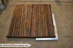 How to make a removable cedar shower floor mat
