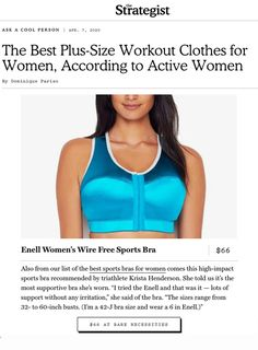 The Strategist - April 2020 Best Sports Bras, Plus Size Workout, Bra Sizes, Lounge Wear, Activewear, Leggings, Shorts, Clothes For Women, Fitness