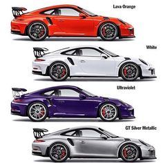 911 GT3RS color palate