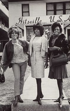 The Supremes at Motown Records' original recording studio-- now the Motown Museum.