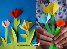 Mother's Day Craft Ideas with paper flowers