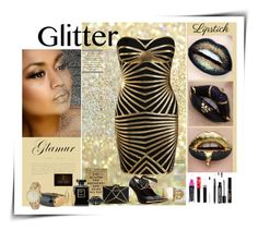 Over the Top Glitter lips by faritsaforfashion on Polyvore featuring polyvore beauty Burberry Chanel Bulgari Kenneth Jay Lane Posh Girl Iman Lime Crime outfit glitterlips mattelipstick