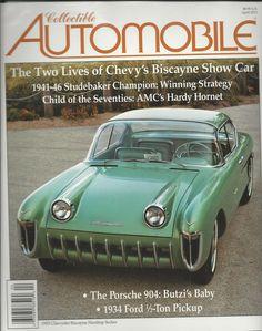 Collectible Automobile magazine Chevrolet Biscayne hardtop sedan Porsche Ford