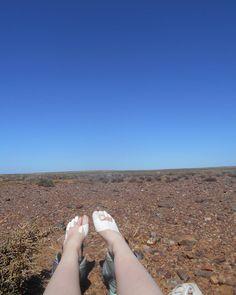 Feet up... Not much around to 'up' onto anymore. Day 4. Tankwa Camino #6. Calvinia to Ceres. 10 days. 256 kilometres . 25th March - 3rd April 2016. #tankwacamino #tankwacamino6 #calviniatoceres #calvinia #ceres #karoo #southafrica #hike #hiker #hiking #modernhiker #outdoors #outside #lifeoutdoors #hikelife #hikersofinstagram #outdooradventurephotos #outdoorfitness #outdoorgear #outdoorlife #backpack #adventure #challenge #expandyourplayground #adventurethatislife #bootsaremadeforwalking…