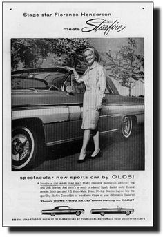 Florence Henders on car ad - 1962 Olds Starfire Ad