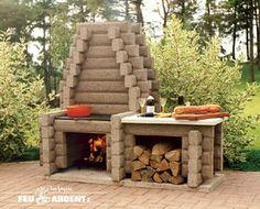 Briques dusine barbecue ma onn avec foyer fonte vous for Foyer brique exterieur