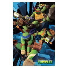 Trends International Teenage Mutant Ninja Turtles - Attack Wall Poster - FR5458BLK22X34
