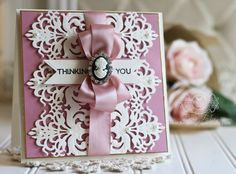 Card Making Ideas by Becca Feeken using Spellbinders Graceful Damask - see full supply list at www.amazingpapergrace.com