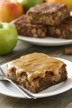 Caramel Apple Cake with Salted Caramel Frosting