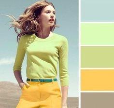 Правильное сочетание цветов в одежде.