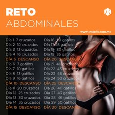 ¿Quieres un abdomen plano y marcado? Haz este #RetoInstaFit de abdomen. Complementa con un plan de nutrición, entra a www.instafit.com