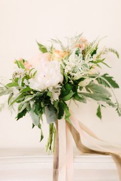 romantic bouquet // photo by The Photography of Haley Sheffield, styling by Juli Vaughn Designs // view more: http://ruffledblog.com/idyllic-floral-wedding-inspiration