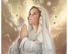 La Inmaculada Concepción, Virgen María arte Print #4021